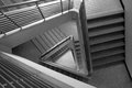Pattern of triangle stair in black and white tone Stock Photos