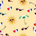 Pattern with umbrella Stock Photography