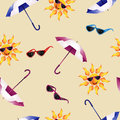Pattern with umbrella Royalty Free Stock Photo