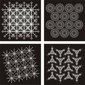 Pattern Vector black 3 Stock Photo