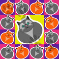 Pattern vector cats