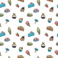 Pattern of vector images of sweets