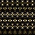 Pattern from vignette with vignettes and arrows on a black background Royalty Free Stock Photography