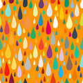 Pattern with water or paint drops vector seamless in multiple bright colors fun and positive background falling for Royalty Free Stock Photos