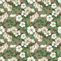 Pattern with watercolor apple flowers vintage Stock Images