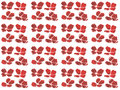 Pattern Watercolor set of red poppy