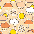 Pattern of weather symbols seamless Stock Images