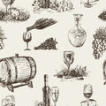 Pattern of wine making vector on the theme the winemaking Stock Image