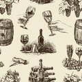 Pattern of wine vector the theme a winemaking Royalty Free Stock Photos