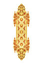 Pattern of wood carved on white Royalty Free Stock Photo