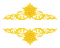 Pattern of wood frame carve flower on white Royalty Free Stock Photo
