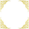 Pattern of wood frame carve flower on white background Royalty Free Stock Photo
