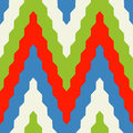 Pattern with zig zag in red blue and green colors seamless geometric colorful Stock Photo