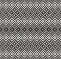 Pattern in zigzag - black and white Stock Photo