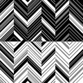 Pattern zigzag in mirror Royalty Free Stock Photography