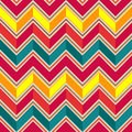 Pattern in zigzag pastel colored Stock Image