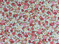 Patterned fabric colorful retro flower on background Royalty Free Stock Image