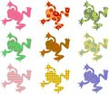 Patterned frogs