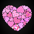 Patterned heart Royalty Free Stock Image