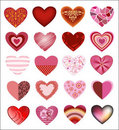 Patterned Hearts Royalty Free Stock Photo