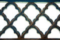 Patterned iron lattice Stock Image