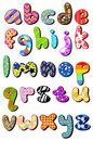 Patterned lower case alphabet Royalty Free Stock Image