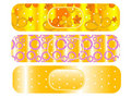 Patterned plasters Stock Photography