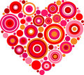 Patterned red heart Stock Photo