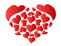Patterned red heart Royalty Free Stock Images