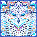 Patterned Snowy Owl