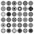 Patterns in circle shape. Design elements. Royalty Free Stock Photo