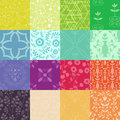 Patterns colllection multicolored floral and abstract Stock Photo