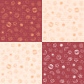 Patterns of confectionary items seamless Royalty Free Stock Photography