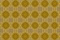 Patterns created from a yellow leaf gift paper and wall paper concept Royalty Free Stock Photos