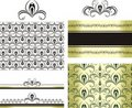 Patterns for decorative borders and frames Royalty Free Stock Photo