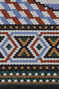 Patterns different colors pattern made of ceramic tiles Stock Photography