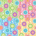 Patterns with flowers Stock Photography