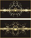 Patterns of ornaments for design. Two wrapping Royalty Free Stock Photo