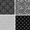 Patterns set black and white decorative Stock Photography