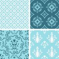 Patterns set decorative seamless floral collection Royalty Free Stock Image