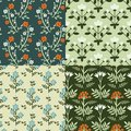 Patterns set seamless decorative floral pattern Royalty Free Stock Images