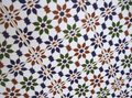 Patterns and structures of ancient Moorish tiles Royalty Free Stock Images