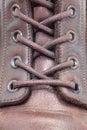 Pattes en cuir d isolement par gaines blanches Photos stock