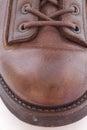 Pattes en cuir d isolement par gaines blanches Photo libre de droits