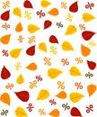 Patttern autumn sale Royalty Free Stock Photo