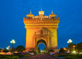 Patuxai Monument, Vientiane, Laos. Royalty Free Stock Photo
