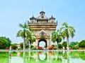 Patuxay monument -Vientiane, LAOS. Royalty Free Stock Photo