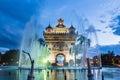 Patuxay Monument In Vientiane ...