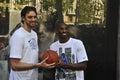 Pau Gasol and Kobe Bryant Royalty Free Stock Photo