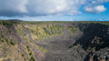 Pauahi Crater in Hawaii Volcanoes National Park Royalty Free Stock Photo